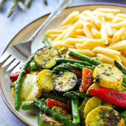 Recipes By Course Summer Pesto Grilled Vegetables with Penne
