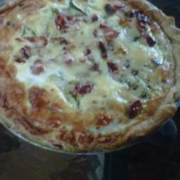 Summer Squash, Bacon & Cheese Quiche