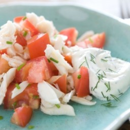 Summer Tomato and Crab Salad