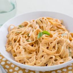 Sun-Dried Tomato Fettuccine Alfredo
