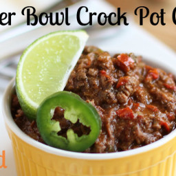 Super Bowl Crock Pot Chili