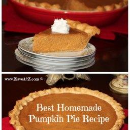Super Easy and Part Homemade Pumpkin Pie Recipe