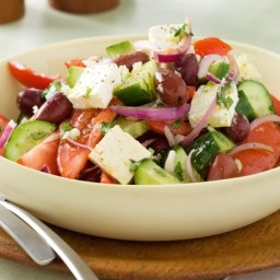 Super-easy Greek salad