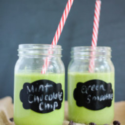 Superfood Mint Cacao Nib Protein Green Smoothie