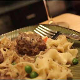 Swedish Meatballs w/ Carrots & Peppered Egg Noodles