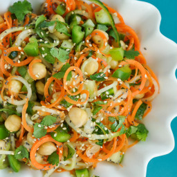Sweet and Sour Thai Carrot and Cucumber Noodle Salad