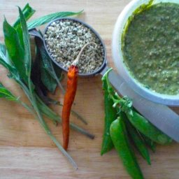 Sweet Pea and Sage Pesto with Hemp Seeds