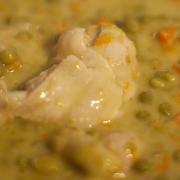 Sweet Peas Sauce Cream with chicken/or vegetarian