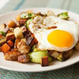 Sweet Potato and Pork Belly Hash