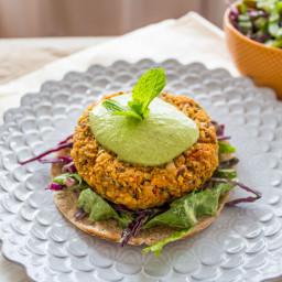 Sweet Potato Burgers with Green Tahini