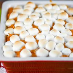 Sweet Potato Casserole with Marshmallows
