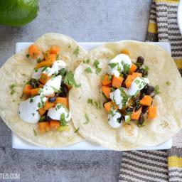 Sweet Potato Tacos with Lime Crema