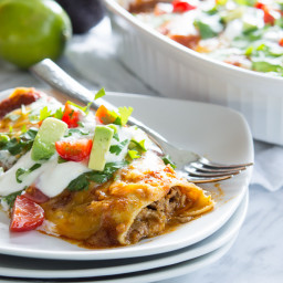 Sweet Pulled Pork Enchiladas