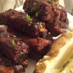 Sweet & Spicy Maple BBQ Sticky Pork Ribs.