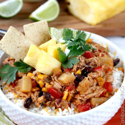 Sweet and Spicy Pineapple Salsa Chicken (Slow Cooker)