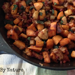 Sweet Potato, Apple and Pancetta Hash