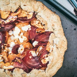 Sweet Potato Beet and Goat Cheese Galette