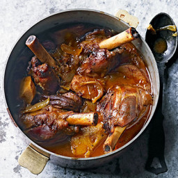 Sweet spiced lamb shanks with quince