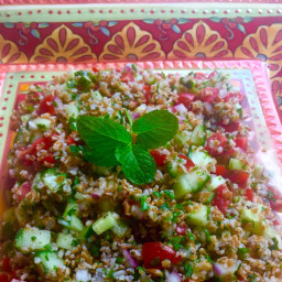 Tabbouleh and Cucumber Salad