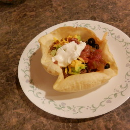 Taco Bowls with white shells