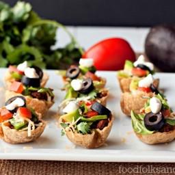 Taco Salad Mini Bites – a heathy hot sauce recipe