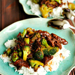Take-Out, Fake-Out: Beef and Broccoli {Crockpot}