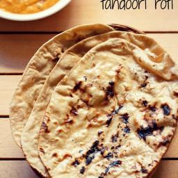 tandoori roti recipe on stove top and tawa