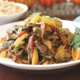 Tangerine Beef Stir Fry with Bell Peppers