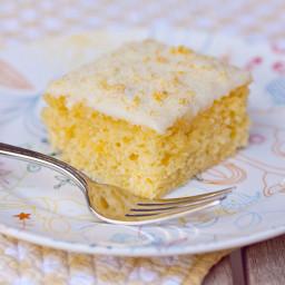 Tangerine Sheet Cake