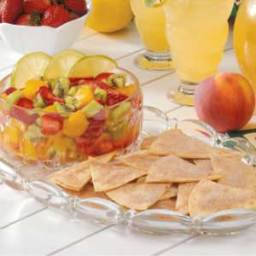 Tangy Fruit Salsa with Cinnamon Chips Recipe