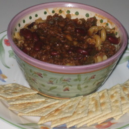 Tasty homemade chilli