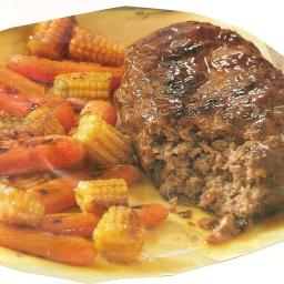 Teriyaki Meat Loaf and Vegetable Packets