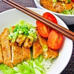 Teriyaki Pork Loin Salad Donburi