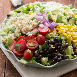 Tex Mex Quinoa Salad with Cilantro-Lime Vinagrette
