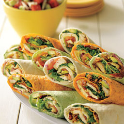 Tex-Mex Chicken Club Wraps