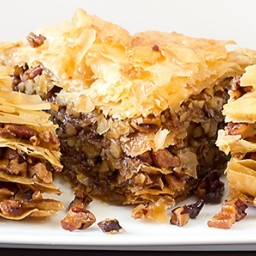 TEXAS PECAN BAKLAVA WITH RUBY RED GRAPEFRUIT INFUSED HONEY SYRUP