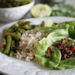 Thai Beef Lettuce Wraps