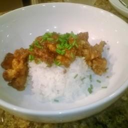 Thai chicken and peanut sauce