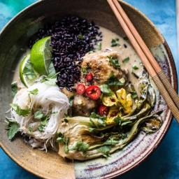 Thai Lemongrass Chicken Braised in Coconut Milk.