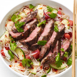Thai Noodle-Steak Salad