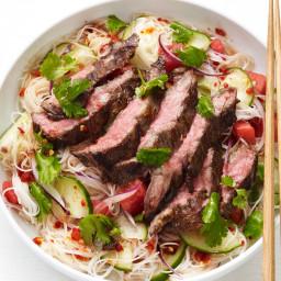 Thai Noodle-Steak Salad