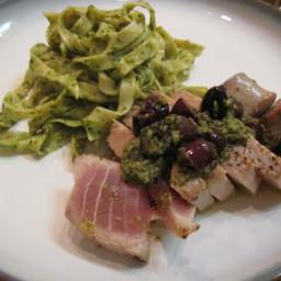 Thai Pesto with Seared Tuna and Asparagus