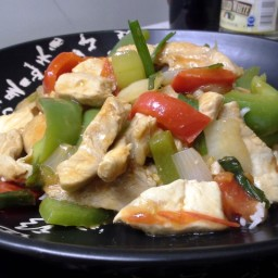 Thai Sweet & Sour Pork over Basmati