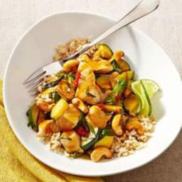 Thai Chicken Stir-Fry with Basil and Cashews
