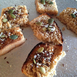 Toasted Sprouted Dipping Bread