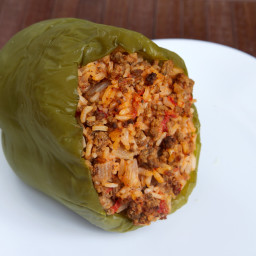 Tofu-Stuffed Peppers on the Grill