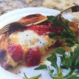 Tomato and taleggio tart