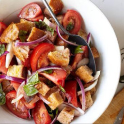 Tomato Bread Salad (Backyard Barbecue Menu)