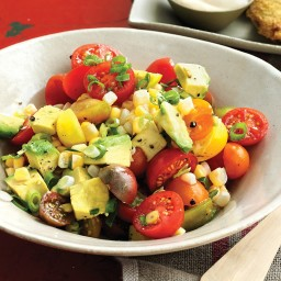 Tomato, Corn, and Avocado Salad