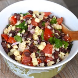 Tomato, Corn and Black Bean Side Salad (or dip if you want it to be)